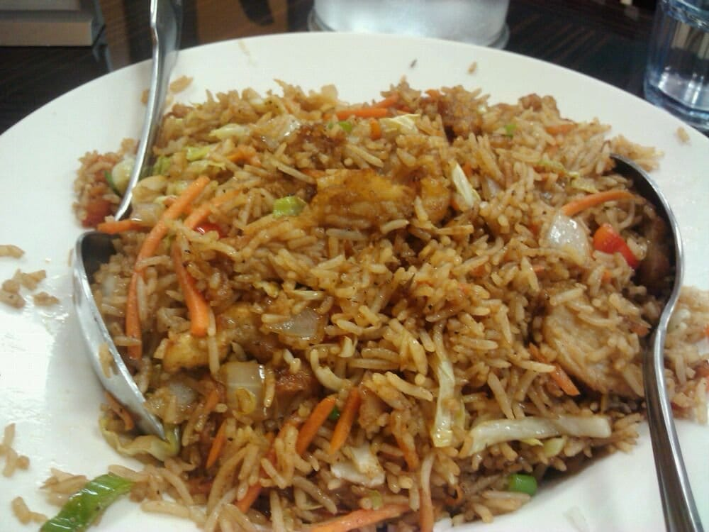 Indo-Chinese fried rice with chicken $8.99 | Yelp